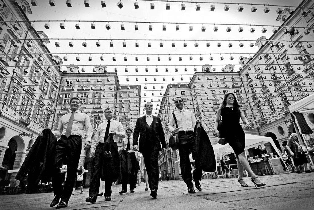 arrivo sposo municipio Torino