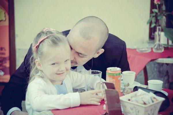 sposo con bimba