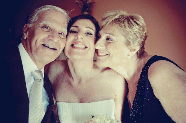 sposa con genitori
