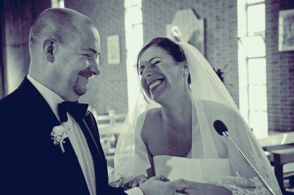 sposi sorridenti