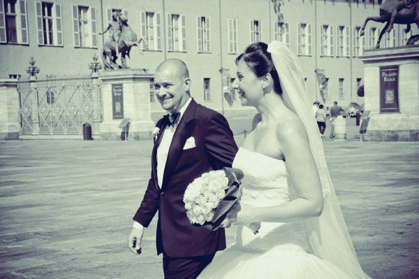sposi piazza castello