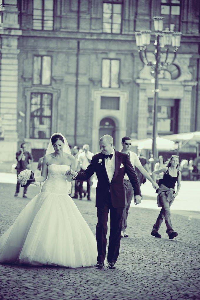 passeggiata sposi piazza carignano torino