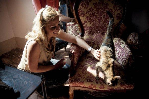 sposa con gatto