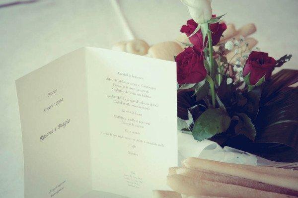 menu sposi al ristorante