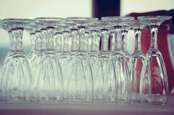 dettaglio bicchieri al ricevimento
